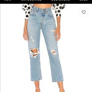 Levi's 501 Crop Boyfriend Jeans, size 24
